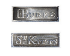 WANTED TO BUY - 'I.BURKE', 'ST.KITTS'