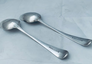 Pair of Newcastle Table/Serving Spoons, Dorothy Langlands
