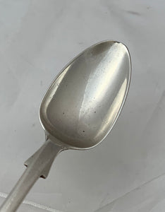 Colonial Fiddle Pattern Teaspoon, Charles Catton, Gibraltar, c. 1820s-30s.