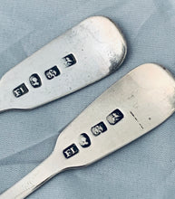 Load image into Gallery viewer, Pair of Rare Early Australian Salt Spoons, Felix LYNN, Sydney, 1830s
