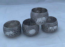 Load image into Gallery viewer, Set of Four Sri Lankan Serviette Rings, 1950s