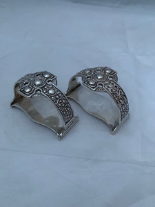 Pair of Celtic Pattern Serviette Rings, Glasgow, 1942