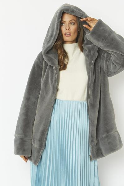 Luxury Faux Fur Grey
