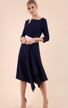 Navy & Celestial Pink swing skirt dress