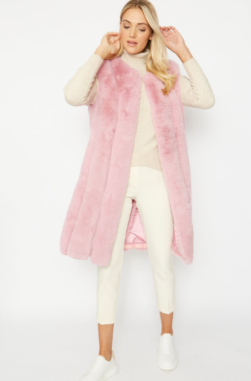 LUXURY PINK FAUX FUR GILET (NEW COLLECTION 🌸 )