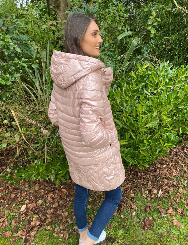 SUMMER DOWN LUNA JACKET LIGHT PINK METALLIC
