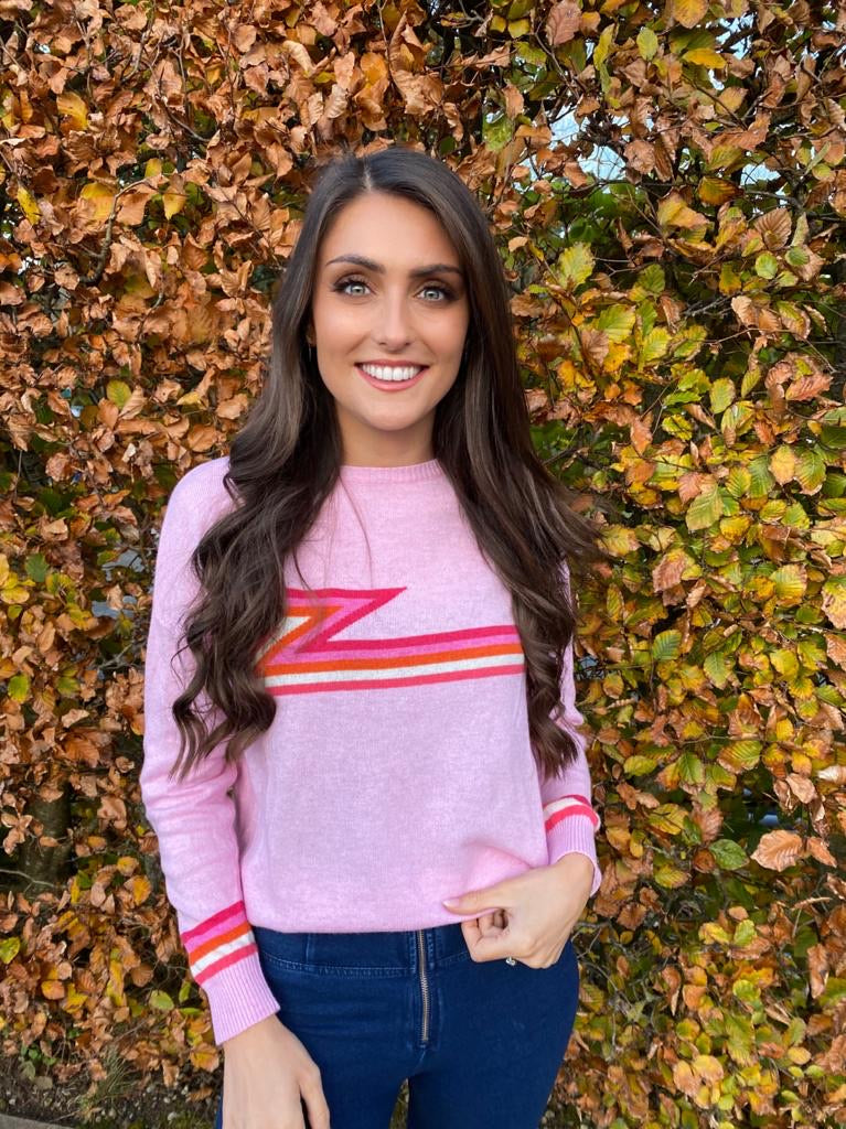 FLASH CASHMERE JUMPER PINK
