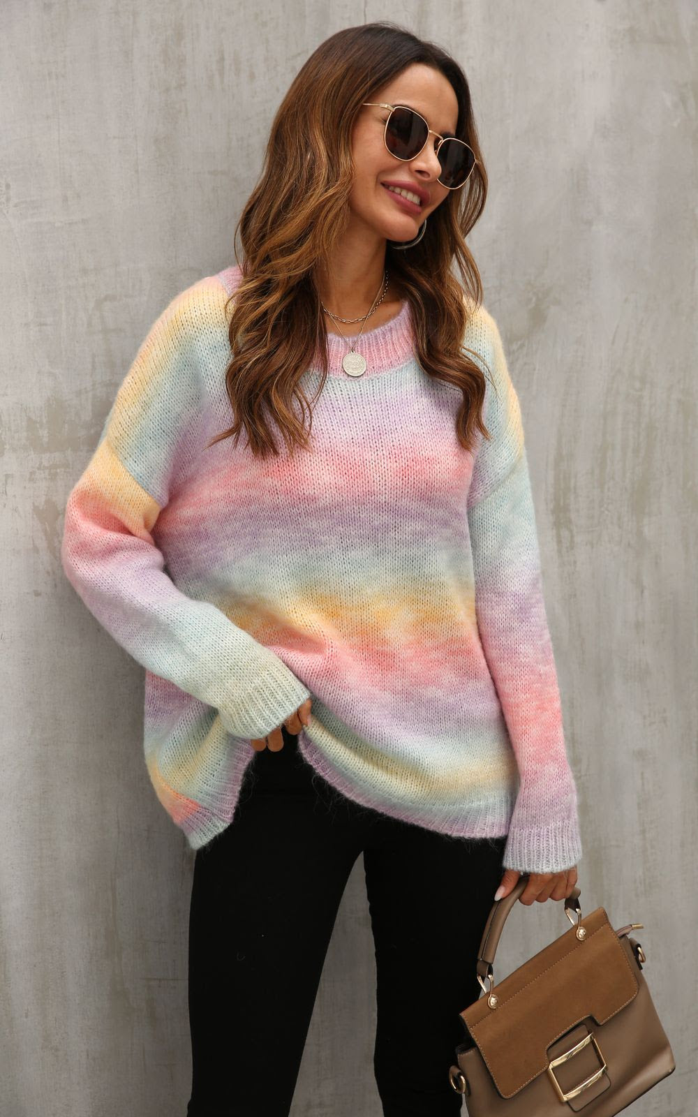 NEW IN COLOURFUL MULTI KNIT JUMPER
