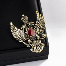 Load image into Gallery viewer, Vintage Double-Headed Eagle Lapel Pin