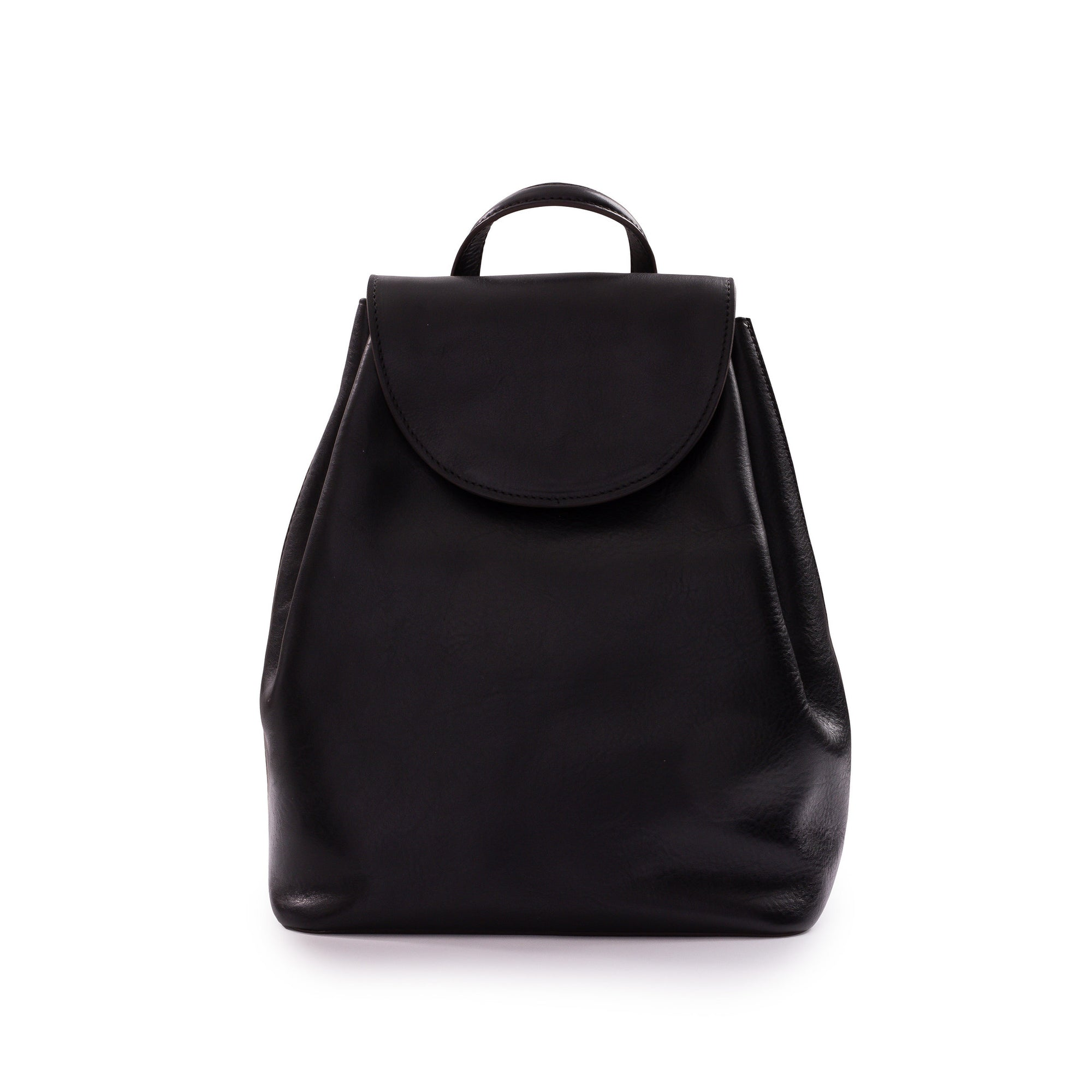 Belle Leather Backpack in Black
