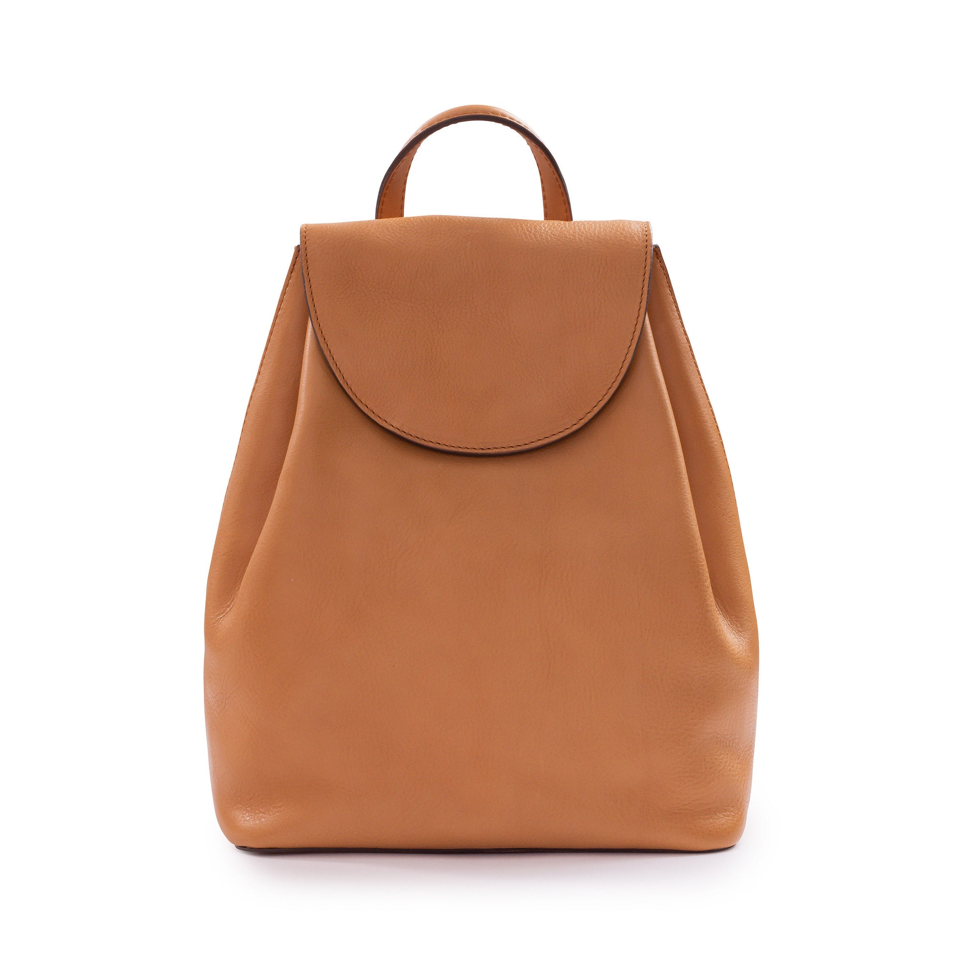 Belle Leather Backpack in Nude