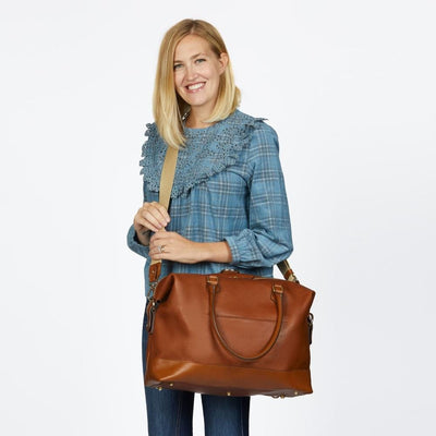 Collette Hybrid Bag in Blue and Gold