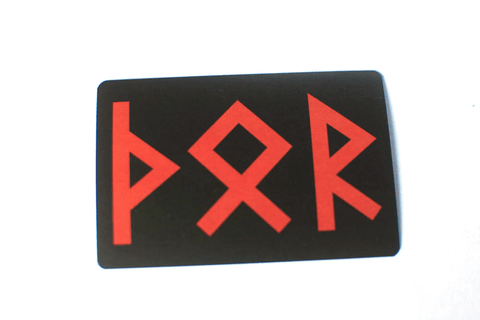 Image of runic Thor sticker - Oreamnos Oddities
