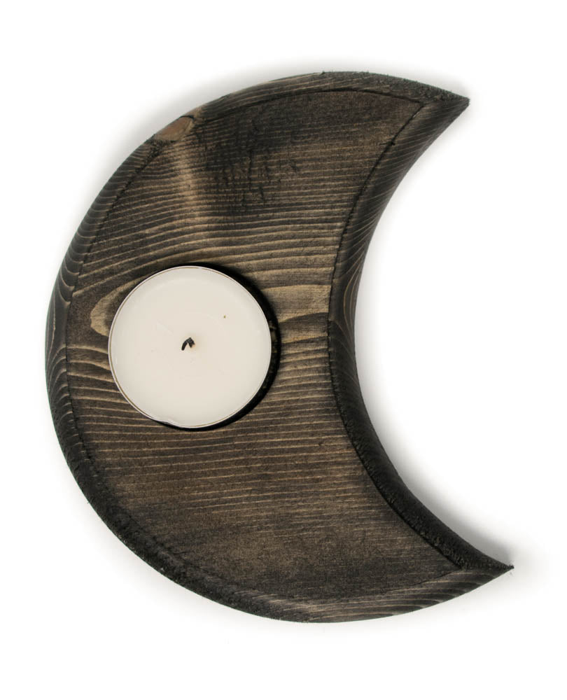 crescent moon tealight candle holder
