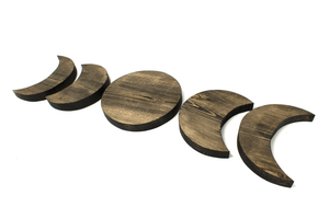 Moon phase wall hanger set