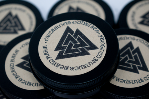 Image of beard salve, viking beard salve, pagan beard salve, norse beard salve, heathen beard salve, organic beard salve, handmade beard salve