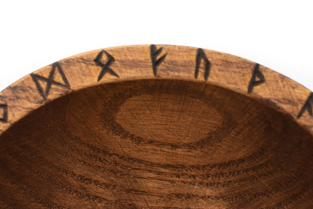 Elder Futhark runic offering bowl