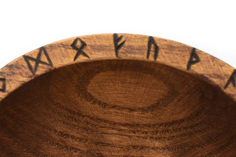 Elder Futhark runic offering bowl - Oreamnos Oddities
