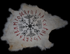 Veldismagn  & runic circle - rabbit hide altar cloth - Oreamnos Oddities