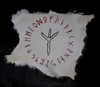 Algiz rune - rabbit hide altar cloth - Oreamnos Oddities