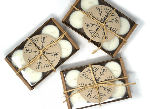 Scented tealight ritual candles - 6 pack
