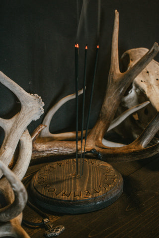 helm of awe, incense dish, pagan incense dish, viking incense dish, asatru incense dish, norse incense dish, nordic incense dish, heathen incense dish