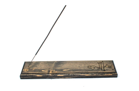 Lukkustafir (good luck) incense dish