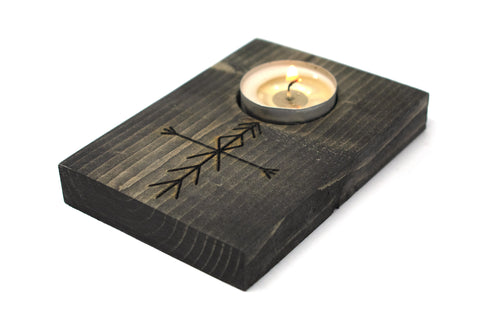 Image of Home protection bindrune tealight candle holder