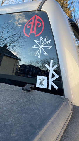 pagan decal, heathen decal, stave decal, nordic decal, viking decal, wiccan decal, witchy decal, witch decal, asatru decal, witchcraft decal
