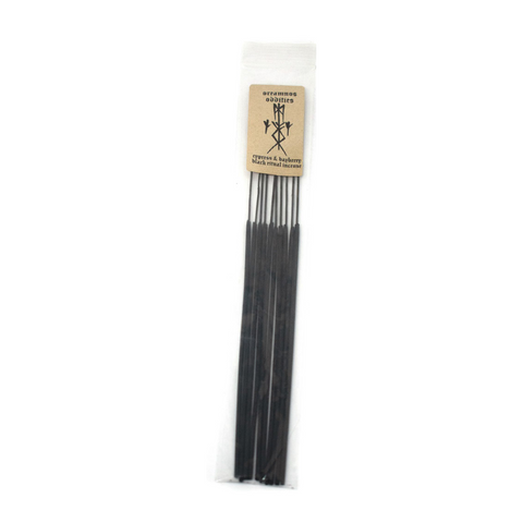 Black ritual bindrune incense