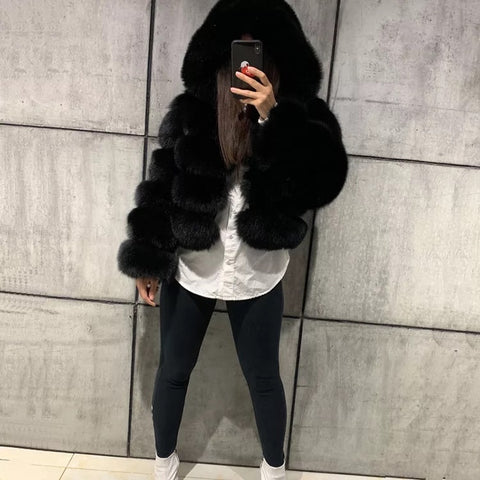 Big Drip Fox Fur Bomber