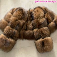Load image into Gallery viewer, 3 Row Natural Raccoon Fur Bomber