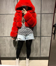 Load image into Gallery viewer, QueenB Fox Fur Bomber