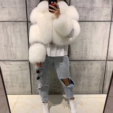 Load image into Gallery viewer, Khloe Fox Fur Bomber
