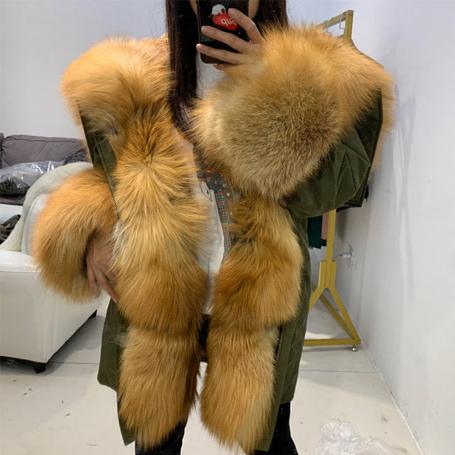 Boujie Fox Fur Parka