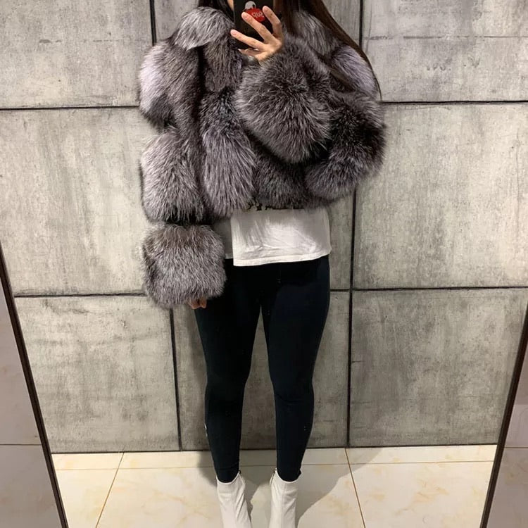 Khloe Fox Fur Bomber