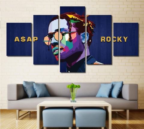 Rapper ASAP Rocky Wall Art | Canvas Painting Framed | 50% Off