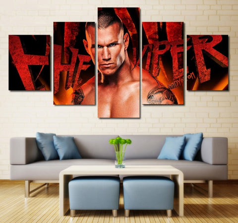 WWE Randy Orton Wall Art | Canvas Painting Framed | 5 piece