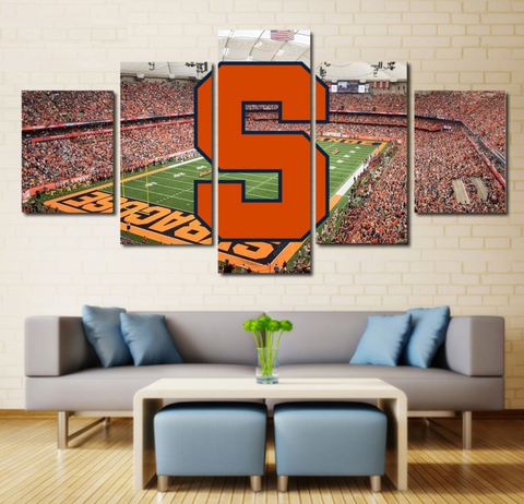 Syracuse Football Wall Art Painting Canvas Poster Framed