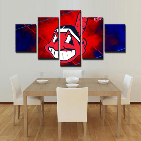 Cleveland Indians Wall Art Canvas Framed Painting