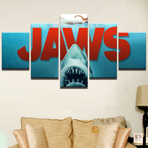 Steven Spielberg Jaws Wall Art | Canvas Painting Framed