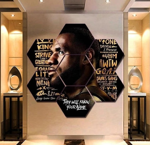King Lebron James Canvas Painting Wall Art