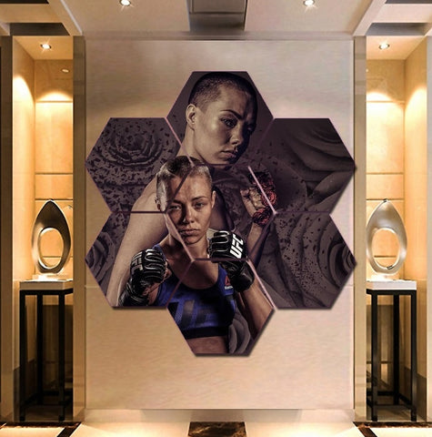 UFC Rose Namajunas Wall Art Canvas Decor Poster Framed