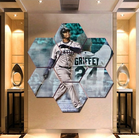 Ken Griffey Jr Wall Art | Canvas Framed Painting | Seattle Mariners