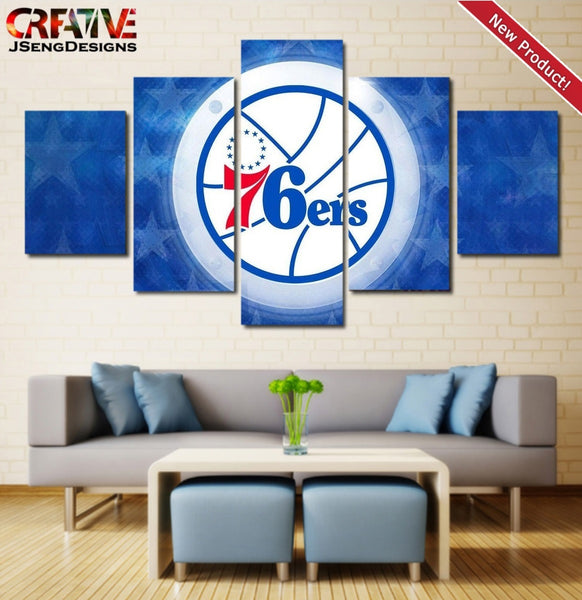 Philadelphia 76ers Poster Home Decor Print HD Wall Art Painting On Canvas.