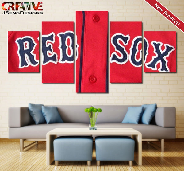 Boston Red Sox Wall Art Oil Painting On Canvas Poster HD Print Home Decor.