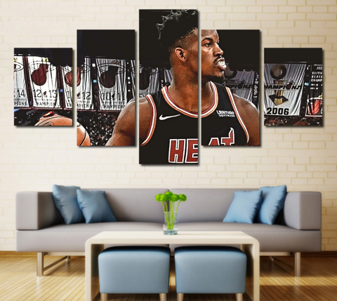 Heat Jimmy Butler Wall Art Painting Canvas Framed Poster