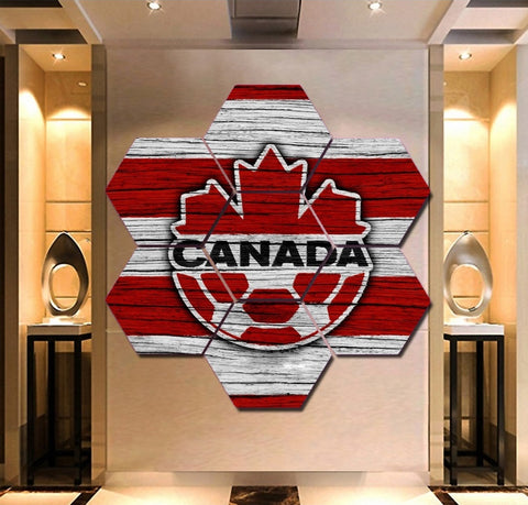Canada National Soccer Wall Art | Canvas Painting Framed