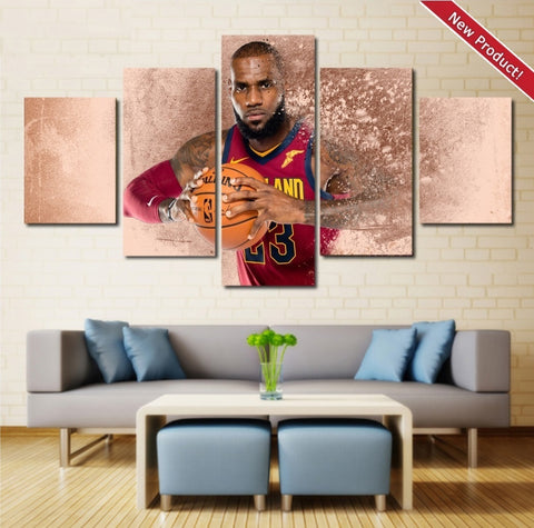 Cavs Lebron James Wall Art | Canvas Painting Framed | Cavaliers