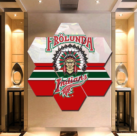 Frölunda Indians wall art canvas